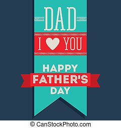 Fathers day design - Fathers day design over blue...