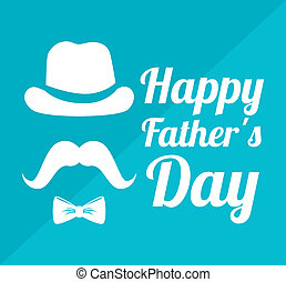 Fathers day design over blue background, vector ...