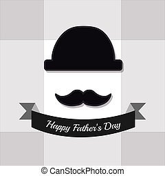 Fathers Day Design over color background