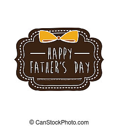 Fathers day design over white background, vector...