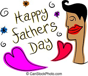 fathers day - happy fathers day design