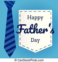 Father's day flat vector in background with necktie graphic
