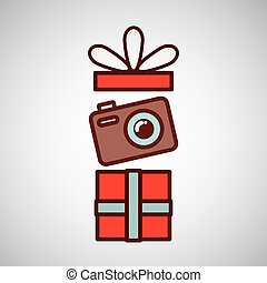 fathers day gift camera icon design vector illustration eps...