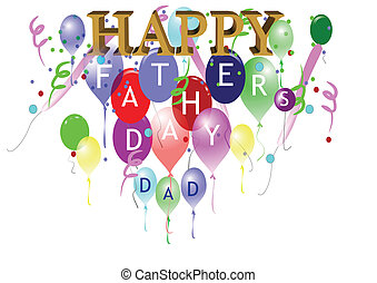fathers day greeting - happy fathers day greeting on white...
