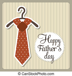 fathers day card over beige background. vector illustration