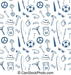 Fathers day. Mens Accessories. Instruments. Sports equipment...
