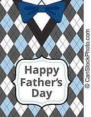 Father's Day on argyle background