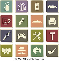 Fathers day simply icons - Fathers day vector icons for web ...