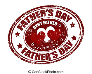 father's day stamp - grunge rubber father's day stamp with...