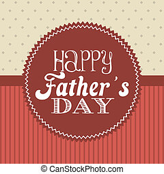 fathers day over red background. vector illustration