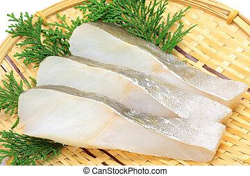 fatia, bacalhau