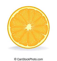 fatia, de, laranja