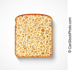 fatia, pão