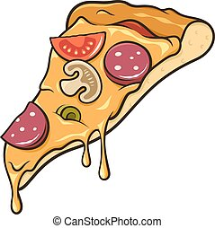fatia, pizza