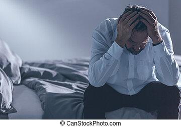 fatigué, dépression, homme
