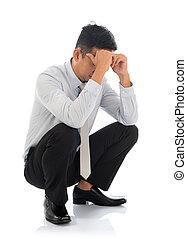 Fatigue despair tired businessman