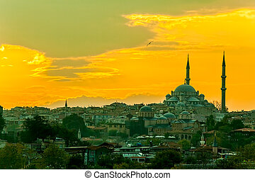 Fatih cami - Looking towards the Fatih mosque from the...