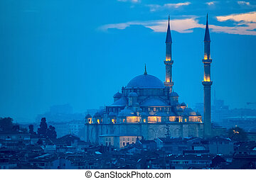 Fatih Camii or Conqueror's Mosque in Istanbul, Turkey.