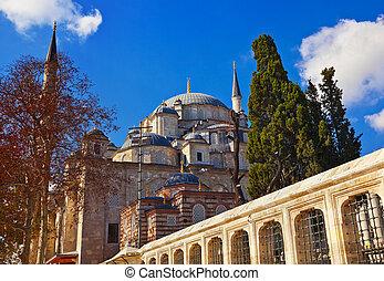 Fatih mosque in Istanbul Turkey