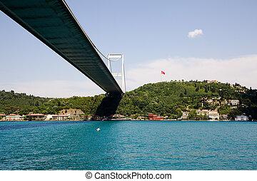 Fatih Sultan Mehmet Bridge. Bosphorus Istanbul Turkey