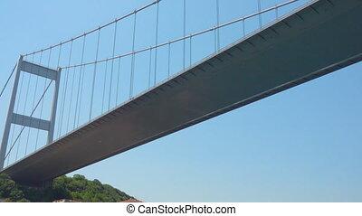 Fatih Sultan Mehmet Bridge over Bosporus Strait, Istanbul,...