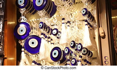Fatima eye amulet in Istanbul - background texture of a wall...