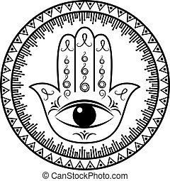 fatima, hamsa, oder, hand