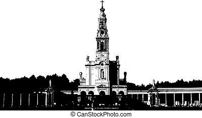 Fatima illustration - Fatima Basilica, Lisbon- PORTUGAL