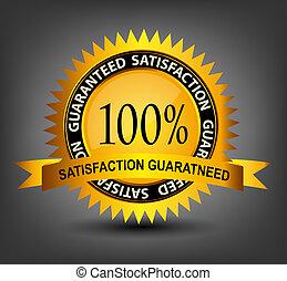 Fatisfaction guaranteed label vector illustration