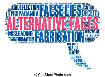 fatos, alternativa, palavra, nuvem