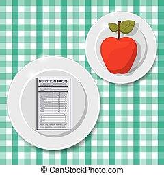 fatos, nutrição, desenho