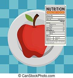 fatos, nutrição, maçã