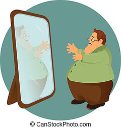 Fatso and the mirror