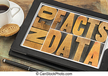 fatti, dati, om, informazioni, tavoletta