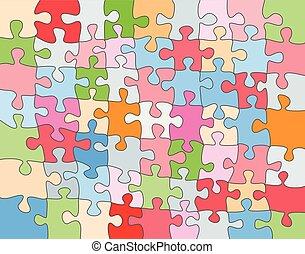 fatto, colorito, astratto, confondere pezzi, vettore, posto, fondo, bianco, tuo, content.