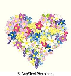 fatto, cuore, fiori