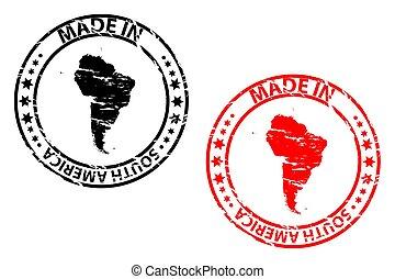 fatto, francobollo, -, gomma, america, sud