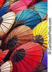 fatto mano, ombrello, laos