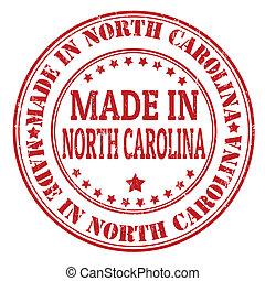 fatto, nord carolina, francobollo