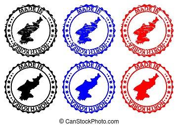 fatto, nord, francobollo, -, gomma, corea