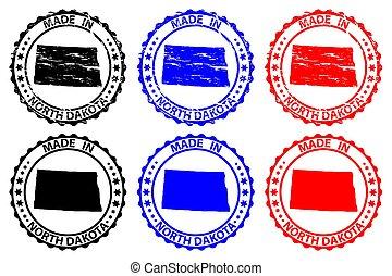 fatto, nord, francobollo, -, gomma, dakota