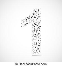 fatto, note, numero, vettore, musica