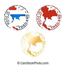 fatto, tailandia, francobollo