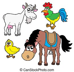 fattoria, 2, animali, collezione