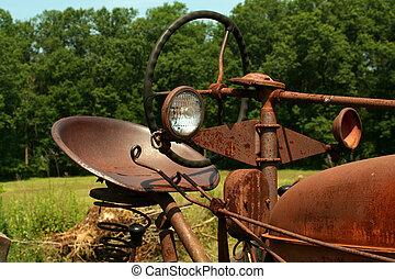 fattoria, arrugginito, vecchio, trattore