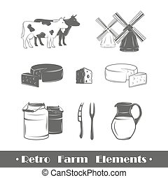 fattoria, elementi, retro