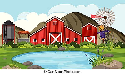 fattoria, esterno, scena