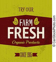 fattoria fresca, retro, manifesto