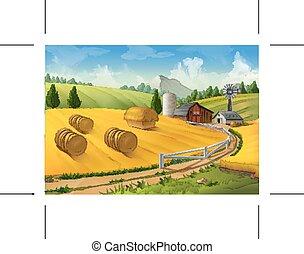fattoria, paesaggio rurale