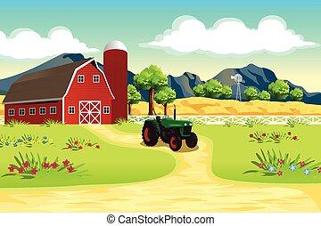 fattoria, scena